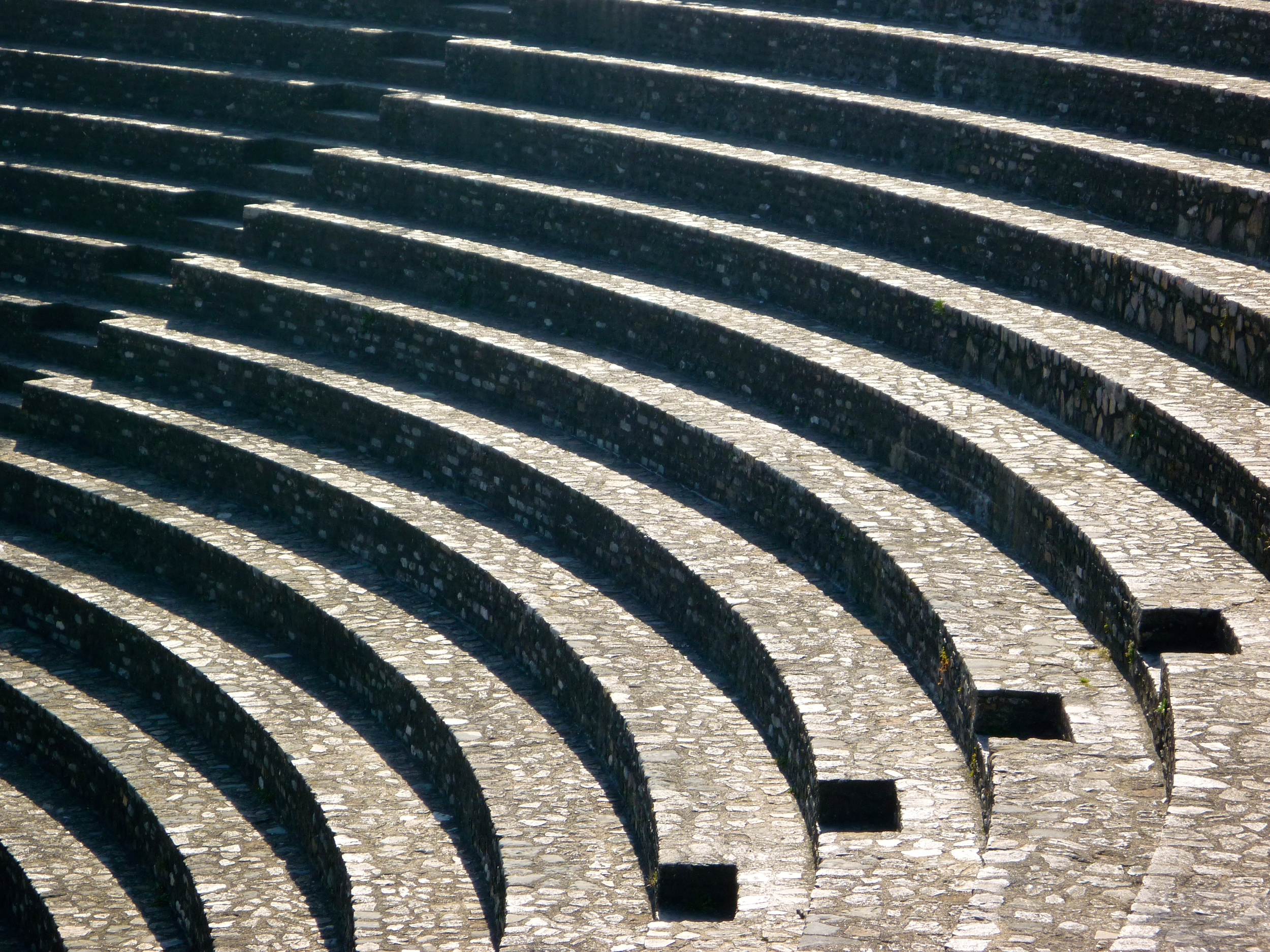 The (restored) steps of the Roman theatre