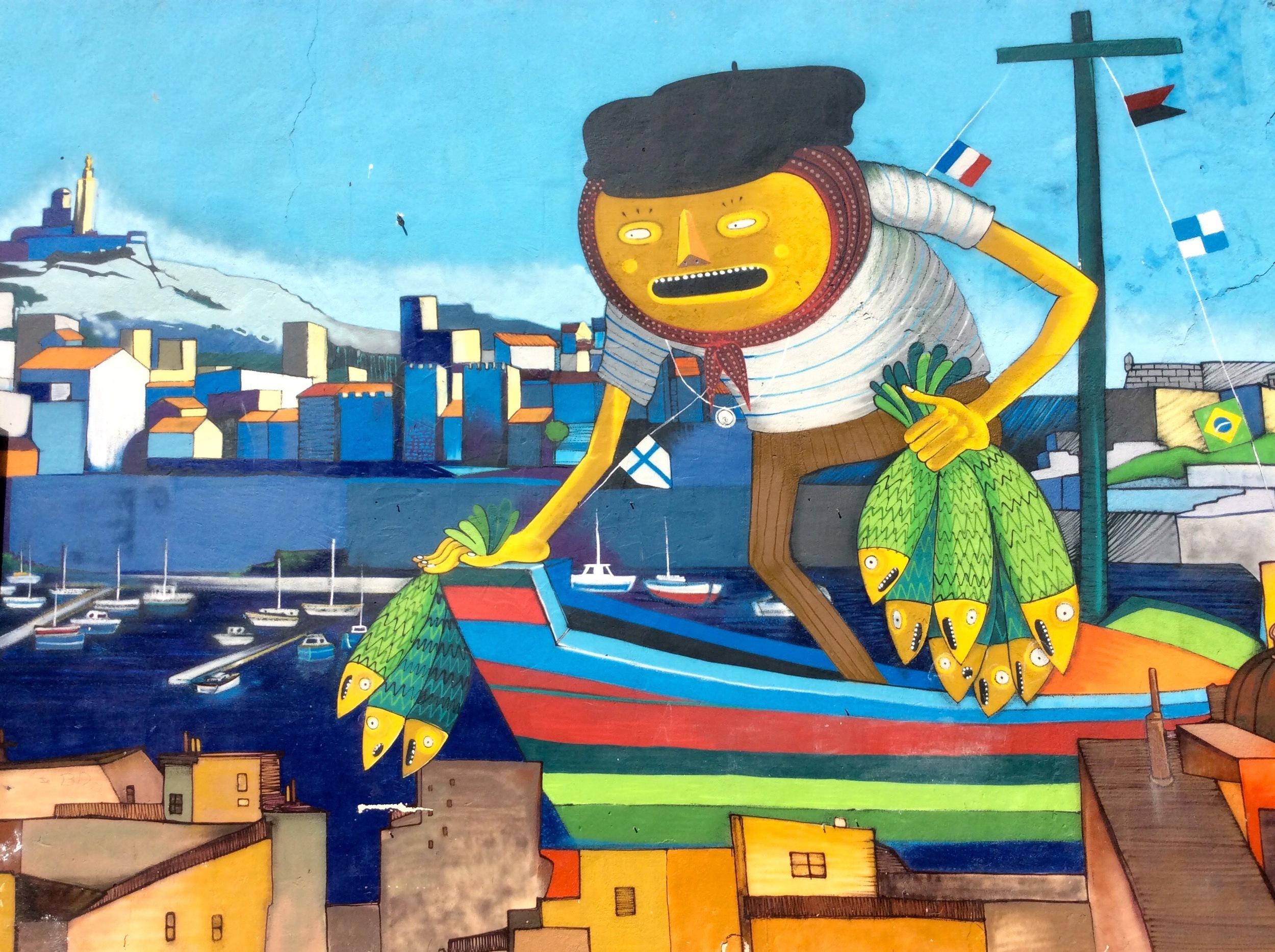 Here's some random Marseille street art for you