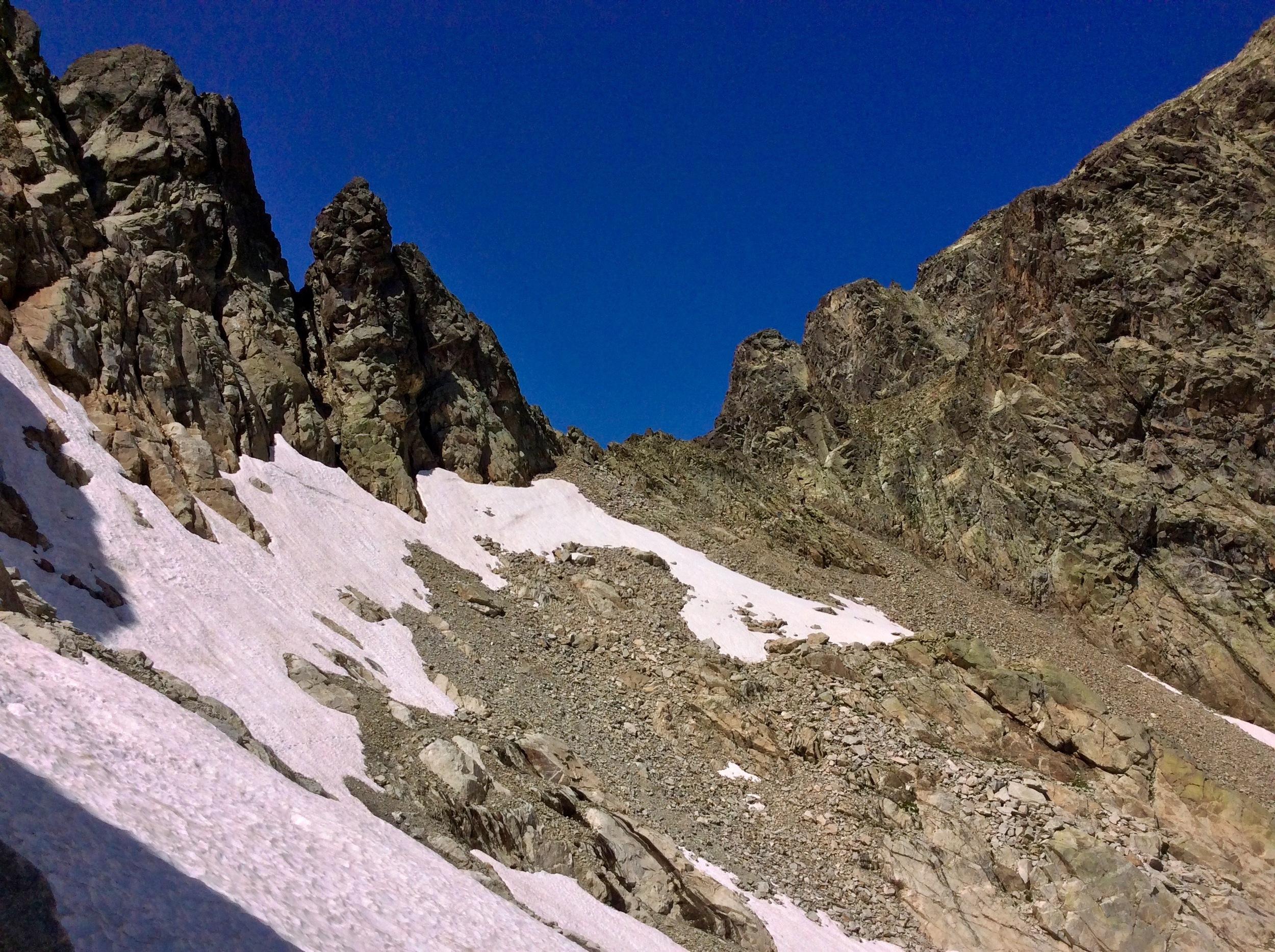 Traversing snowfields