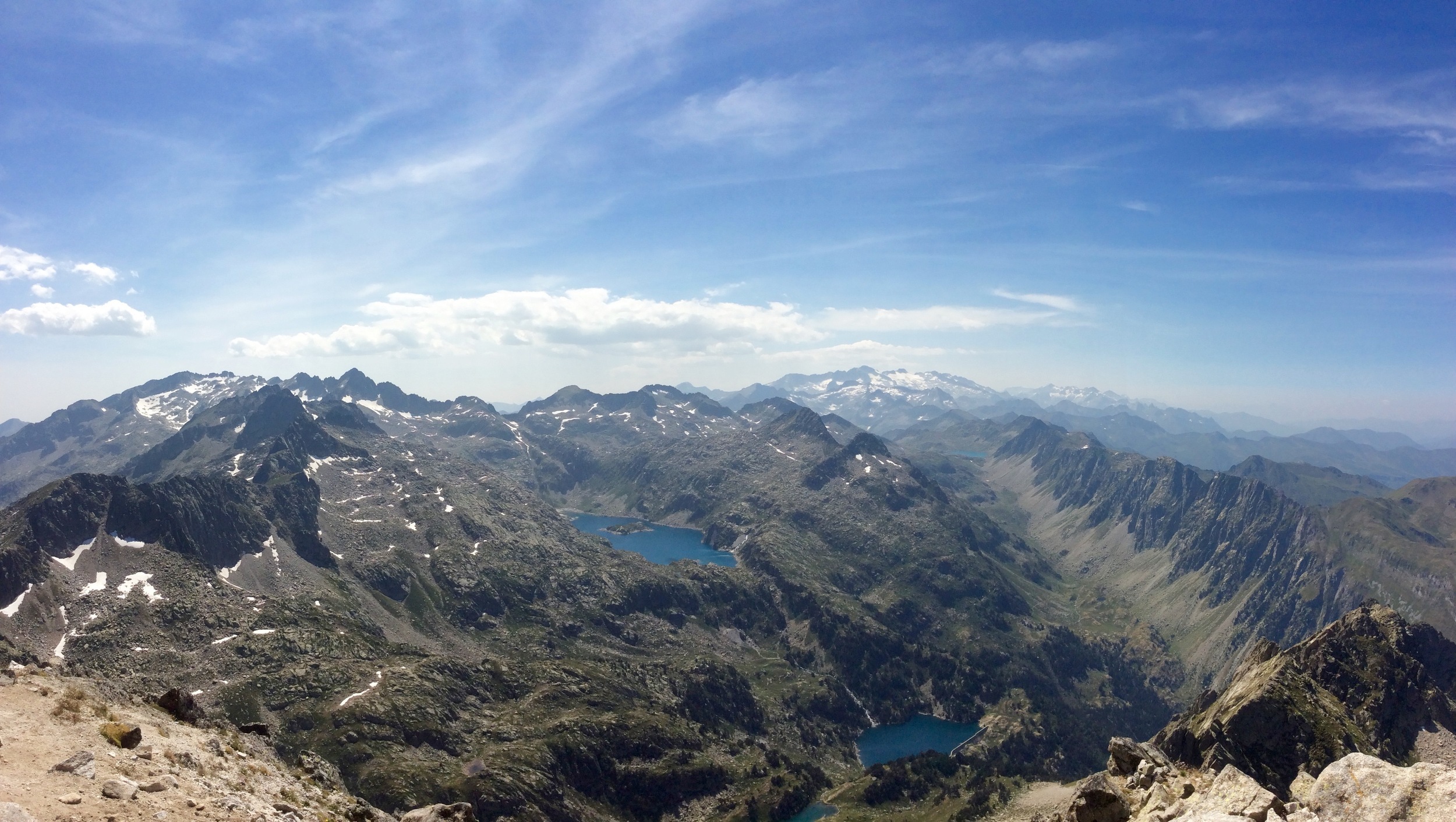 From the summit of Montardo d'Aran, looking west towards Aneto (the highest peak in the Pyrenees)