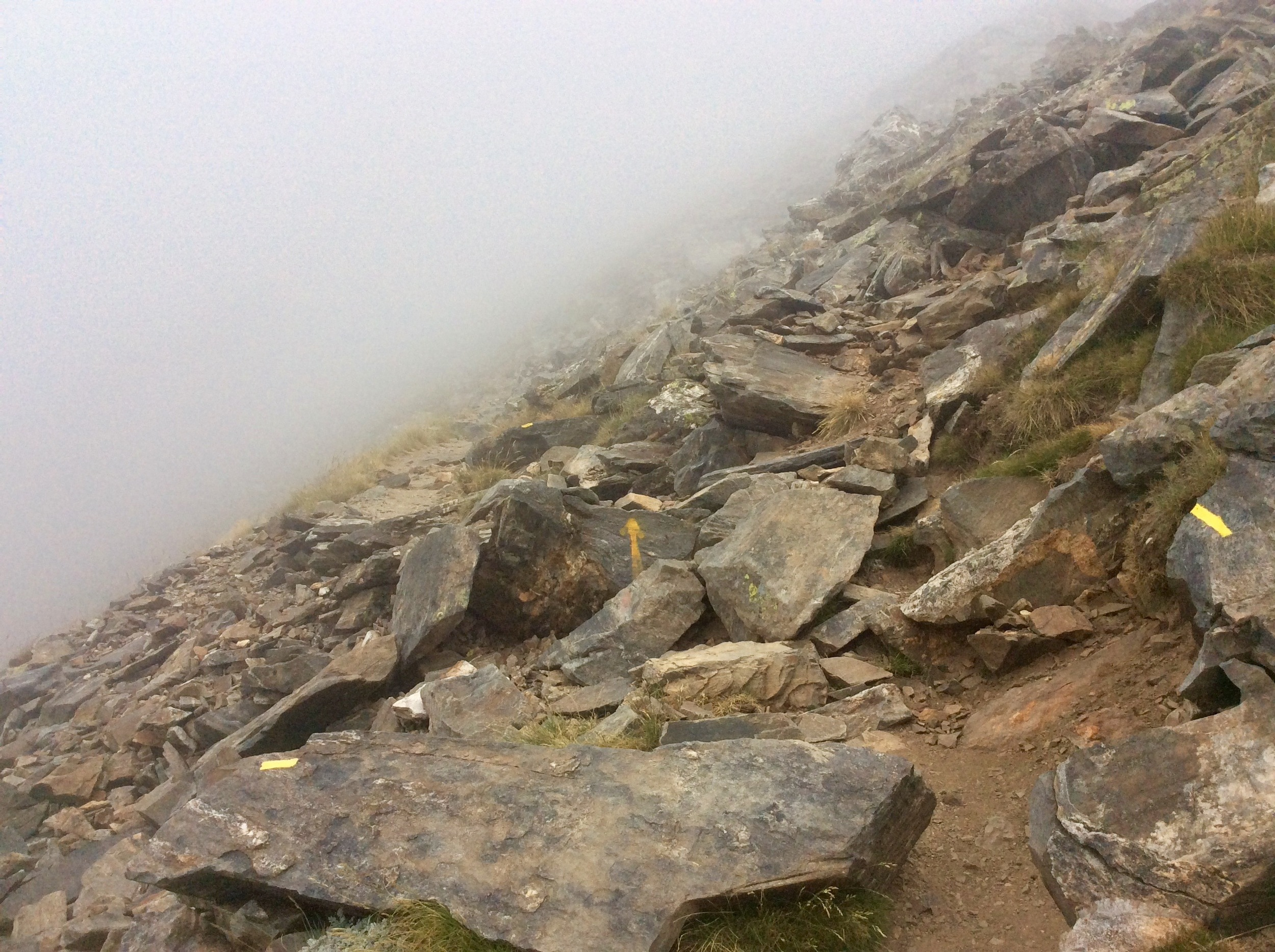 Ascending towards Canigou in the mist