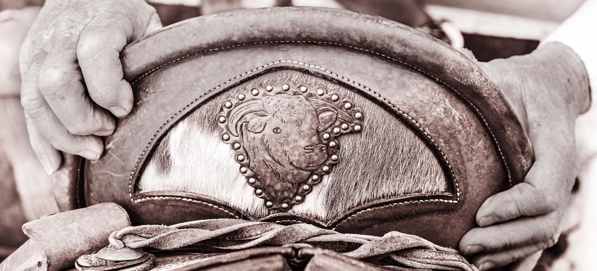 custom saddle bull Bill Huston