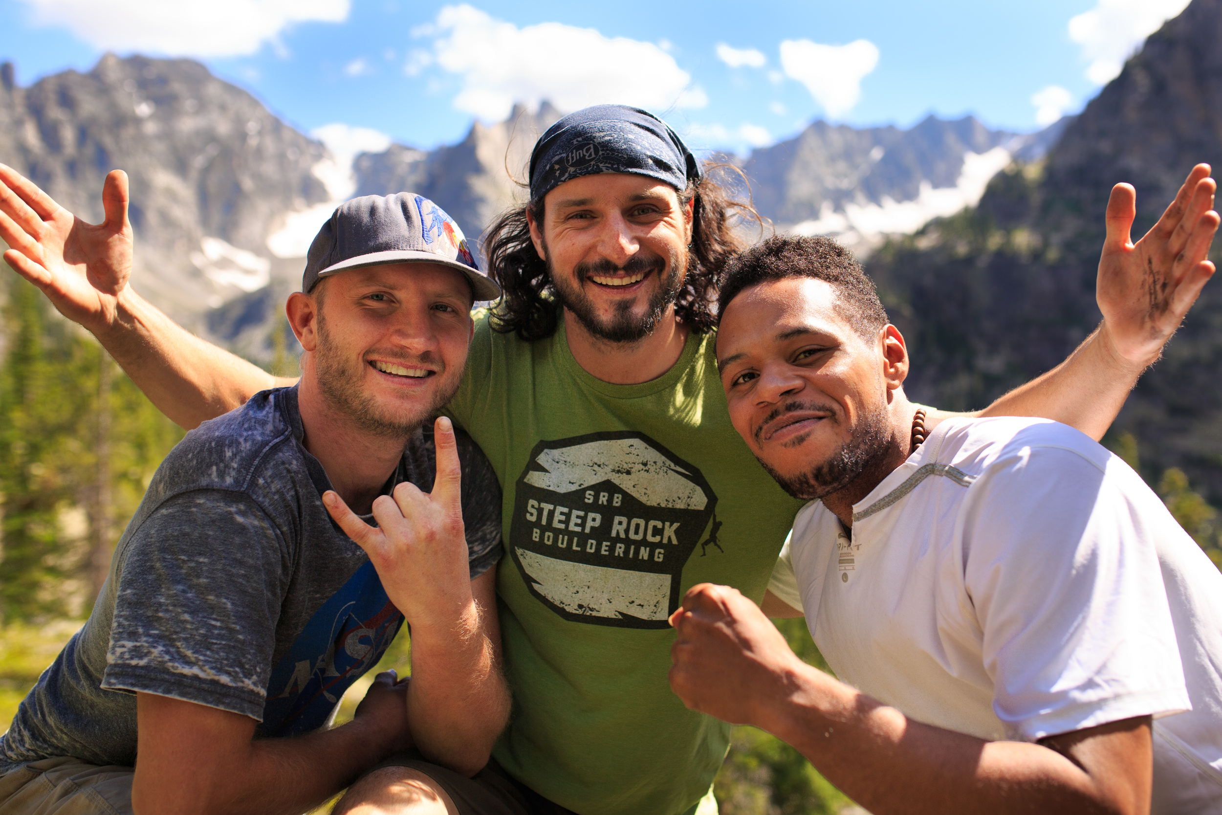 Jesse Spiegel, Vítek Linhart, and Anthony DeJesus of  Rewilding  on a backpacking trip in Colorado's Indian Peaks Wilderness Area.   Download  a High Resolution JPEG  Image (5.86 MB)