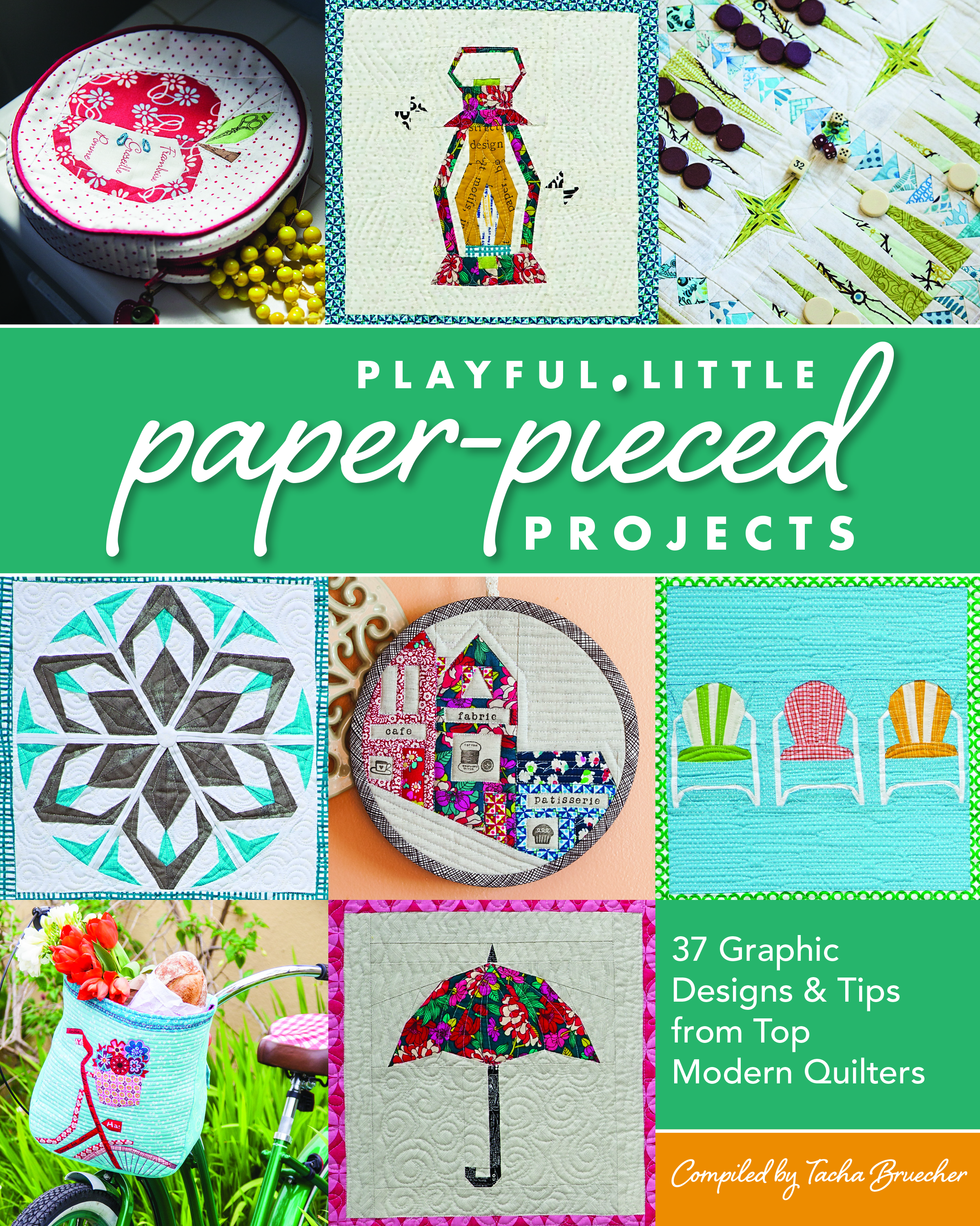 Paper piecing is a technique that can frighten off many quilters, but there is no reason for that. Tascha Breucher put together a strong book that demystifies the technique and inspires in the wide range of projects. It includes a calendar project sure to delight. A sweeping rainbow block incorporated into an art portfolio in my contribution to the book.  Ask for  Playful Little Paper Pieced Projects  in your local quilt shop or pick it  online .