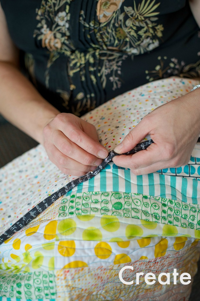 Every single day I sit down to sew. Often with no plan in mind, only the compulsion to create. A strong emphasis on play comes through my in work, and my teaching.   Check out my quilts .