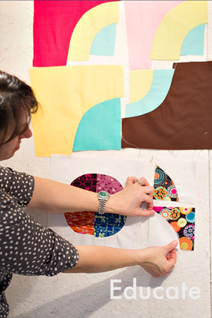 With a preference for teaching quilters technique and process, my classroom is a spot to play, a quilters playground. Nothing you make with me has to BE anything.  Check out my  full class list  and  schedule  for opportunities to unlock your creativity.
