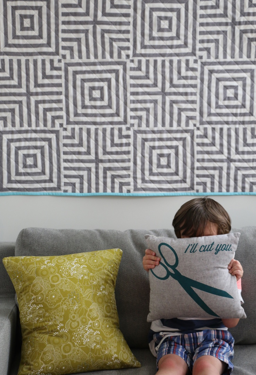 Single Fabric Quilt from Mighty Lucky