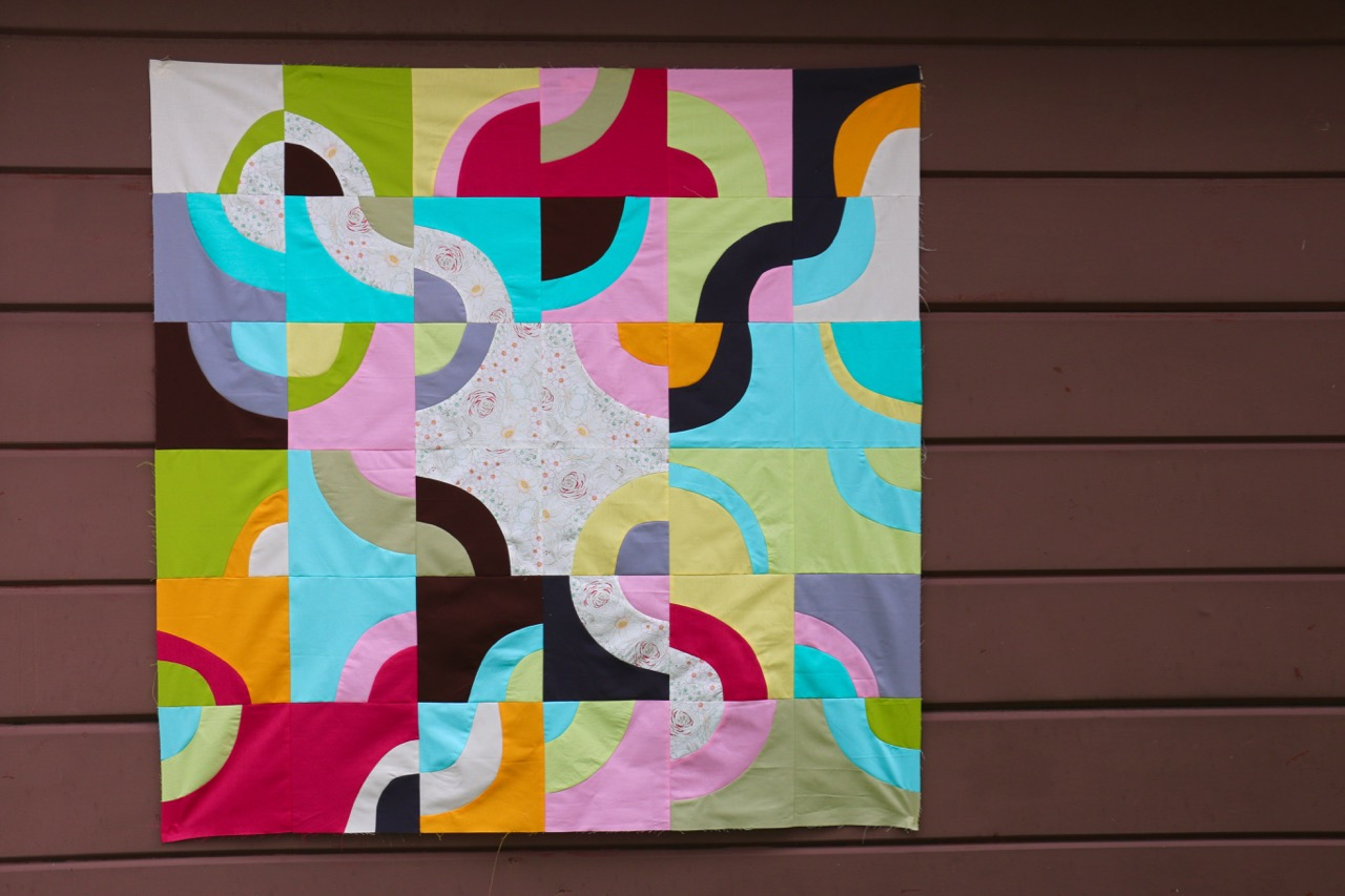 Improv Curves in Quilting, Top