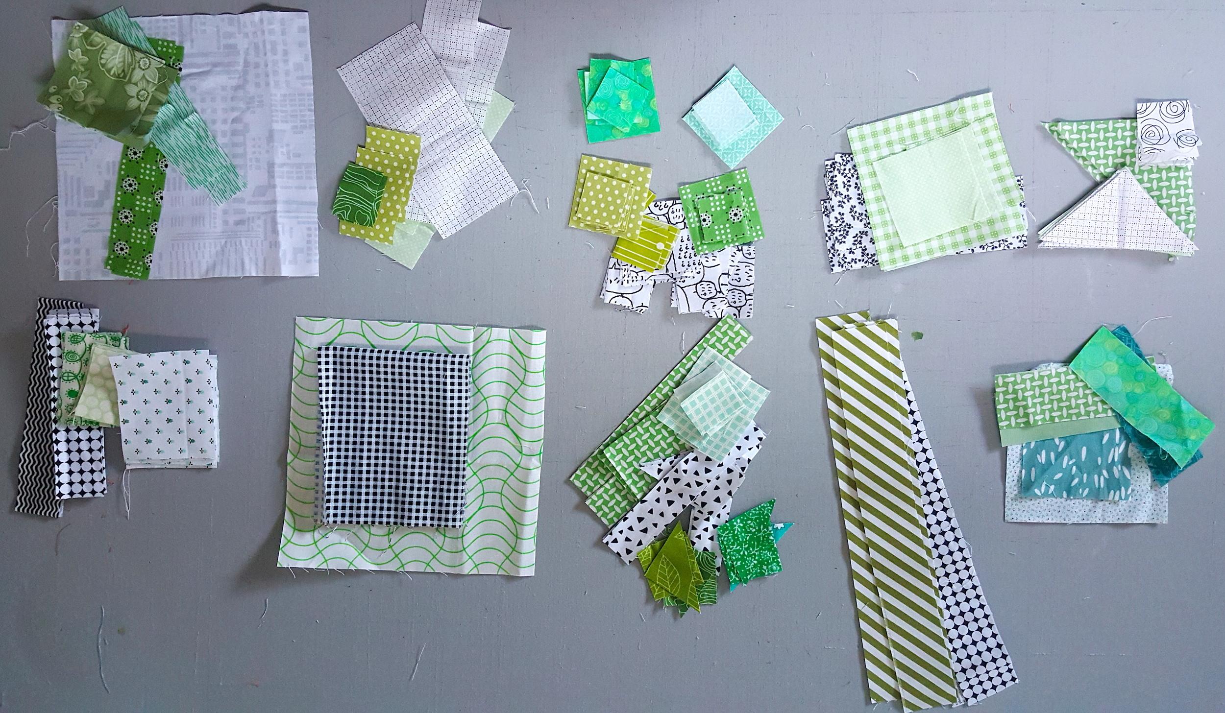 Green Splendid Sampler blocks