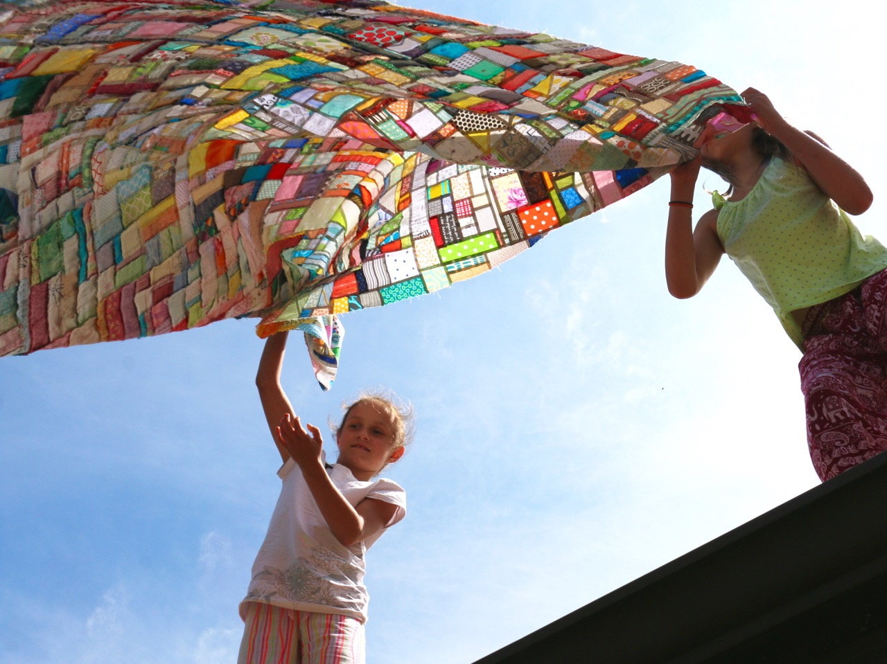 Quilt Top in the Wind