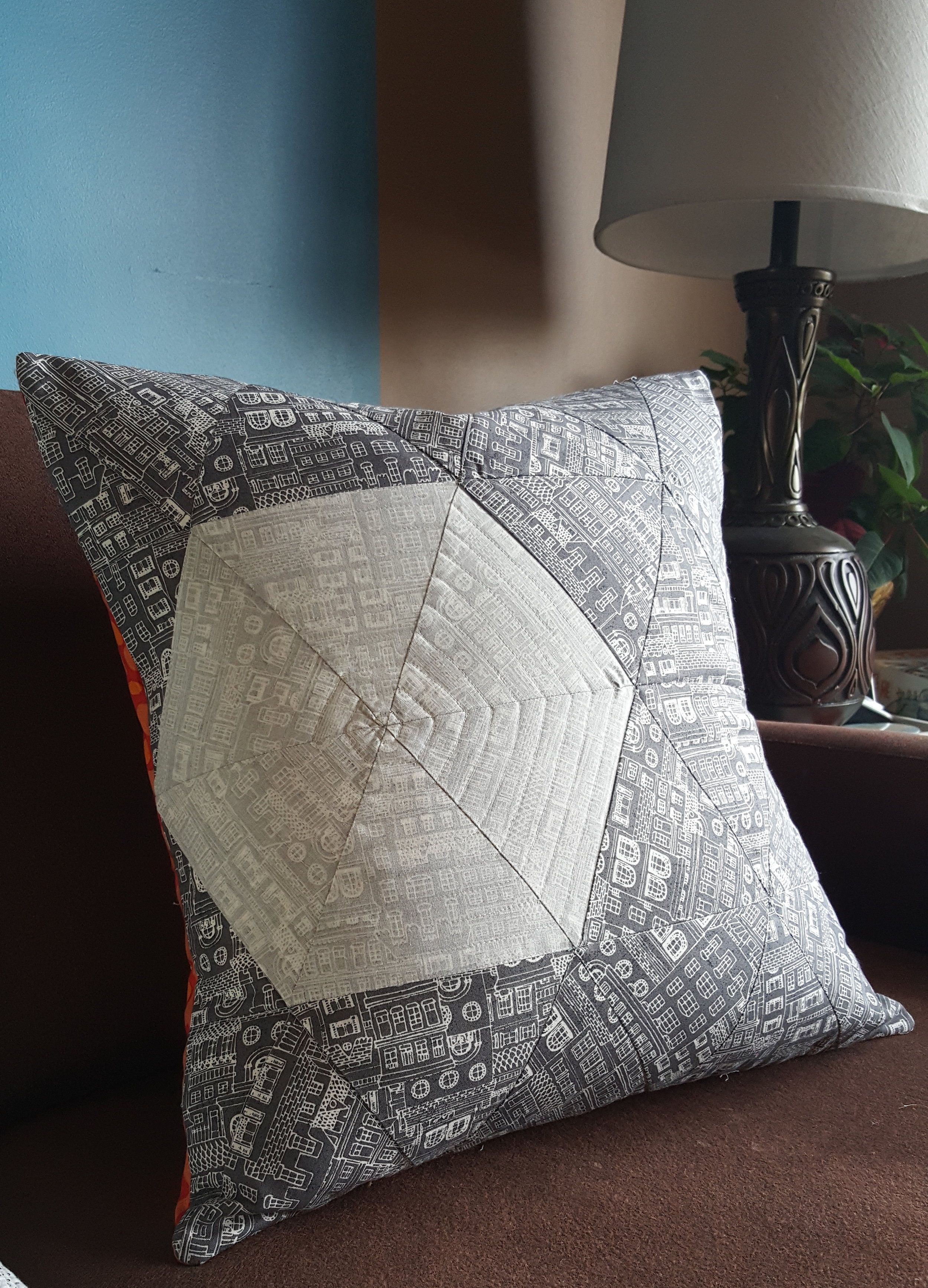 Inception Pillow - Mighty Lucky Quilting Club 1