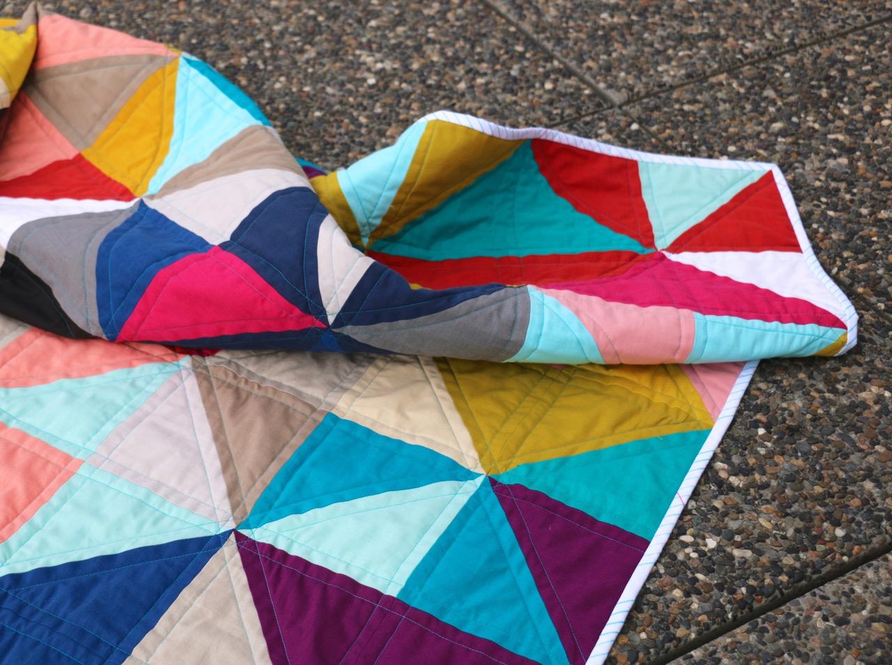 Half Square Triangles Quilt