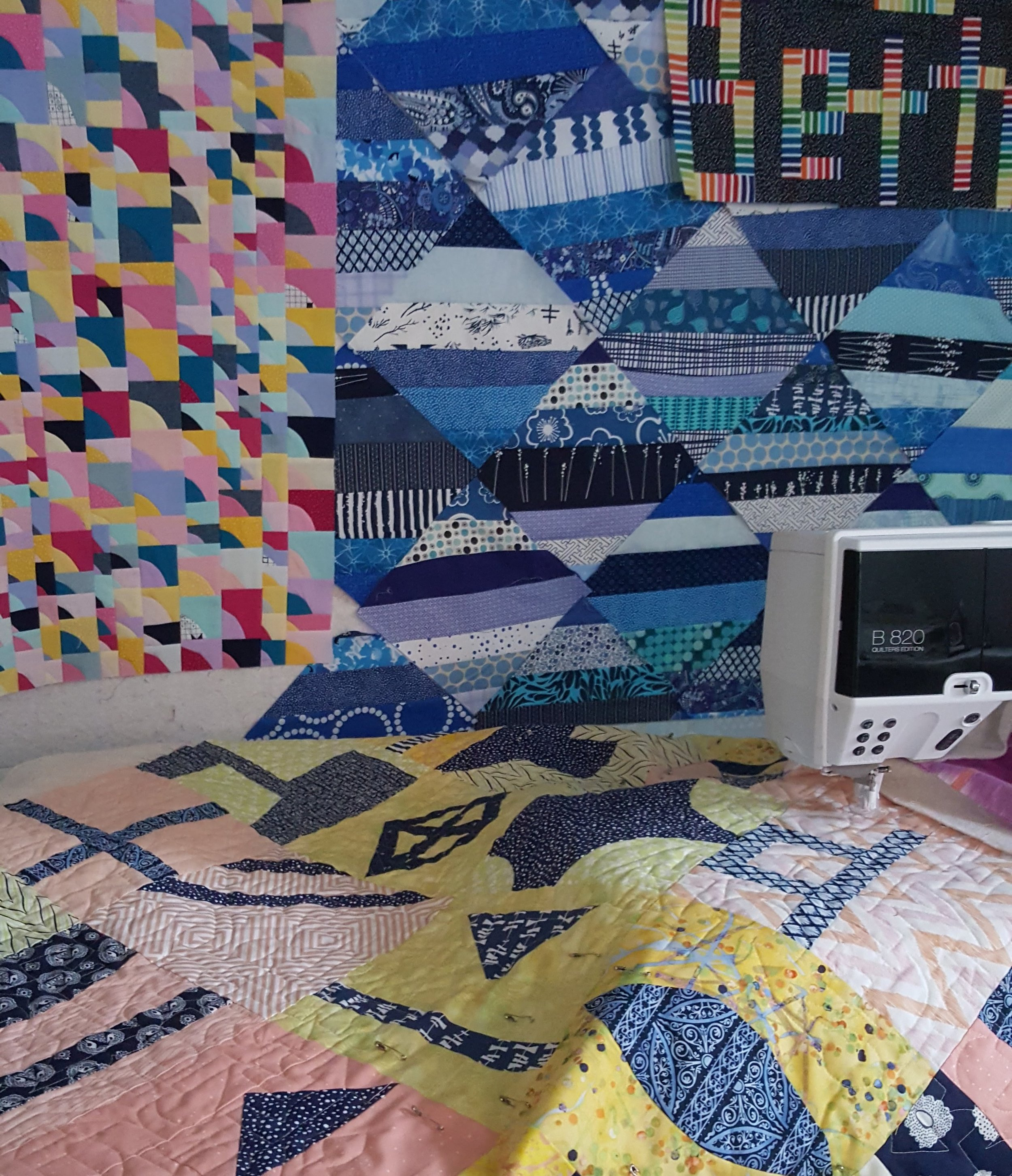 morning make Lilla Quilt Improv Quilting