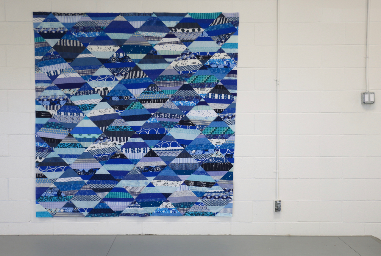 Blue Quilt Hattori Wiliamson Charity Quilt
