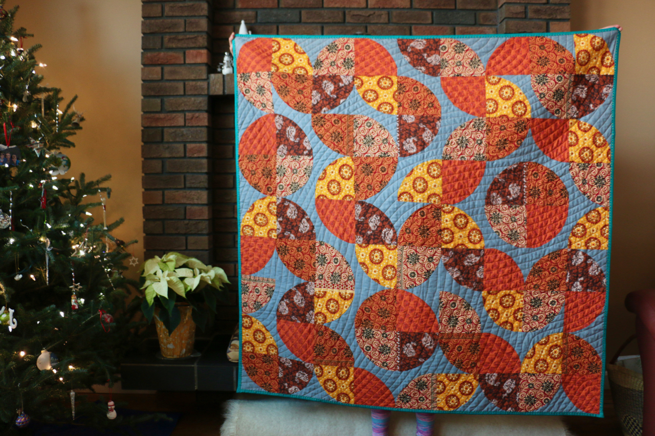 Indian Cottons Improvised Curve Quilts