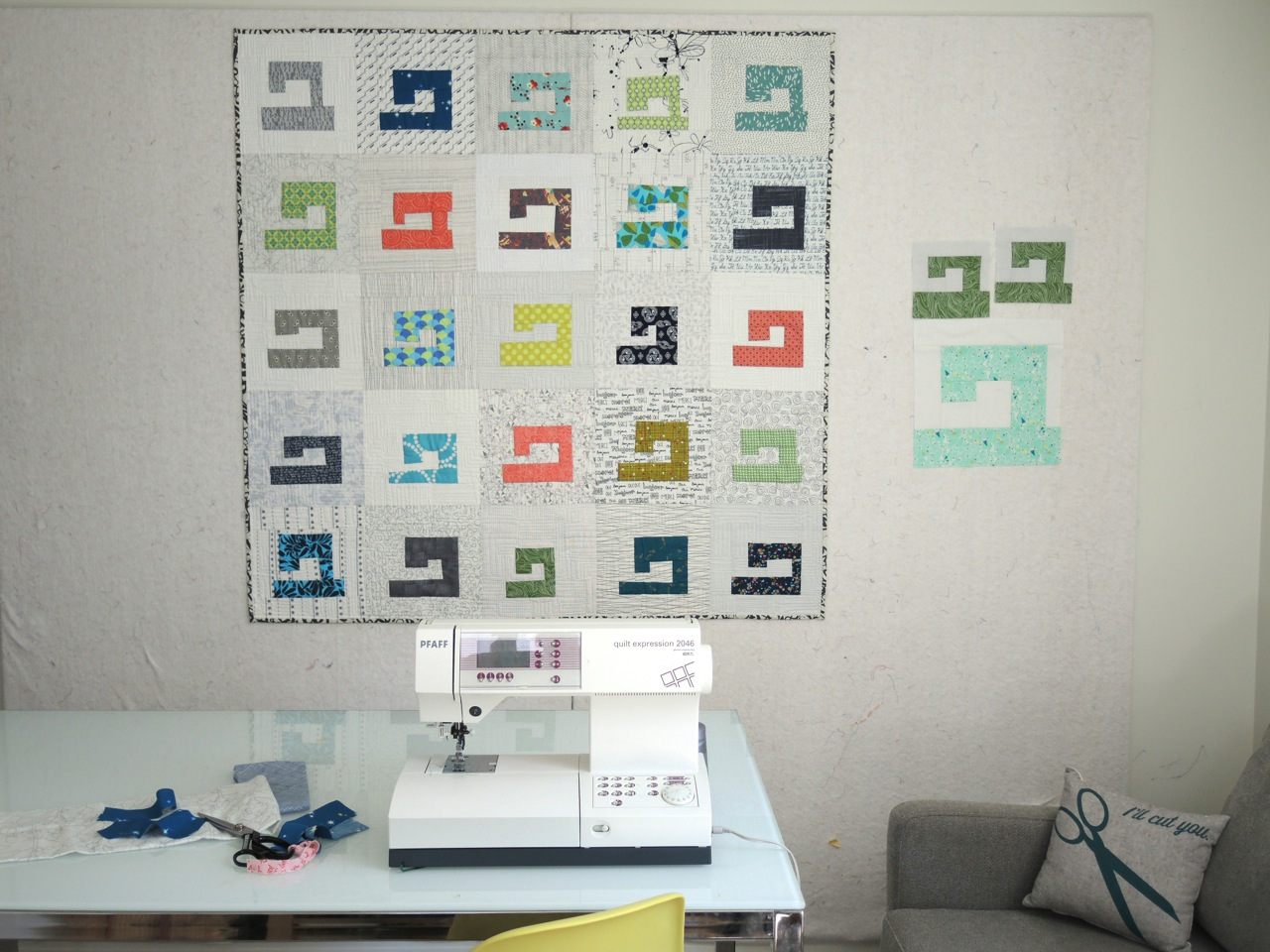 Sewing Machine Quilt with pattern Drop