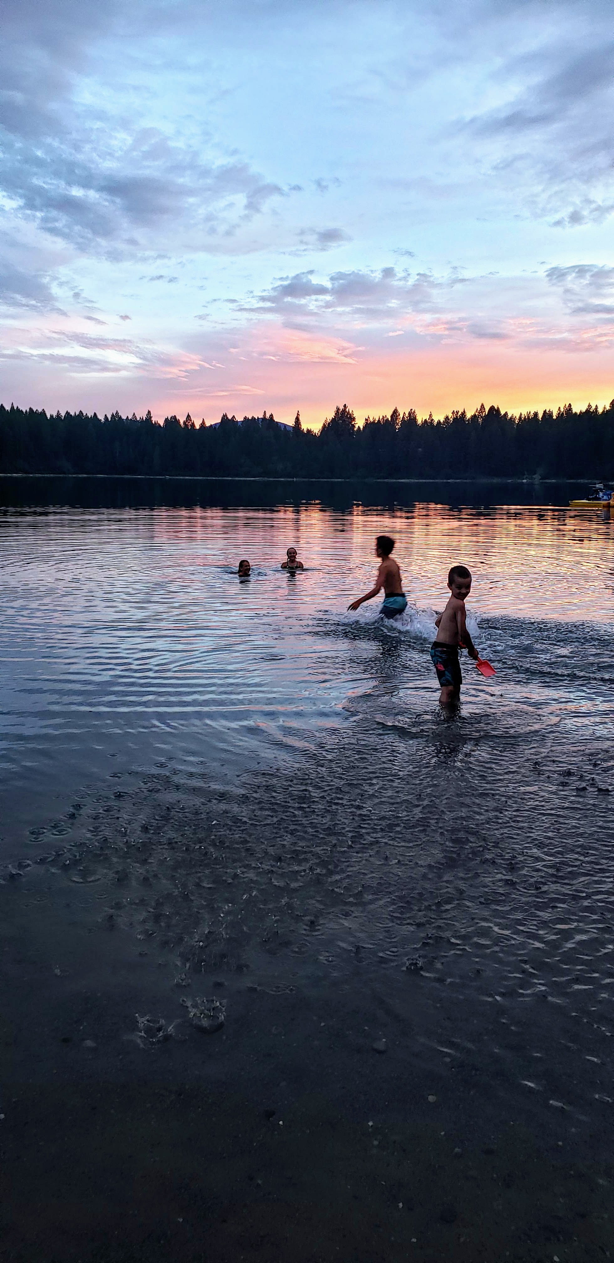Sunset swim (plus moonlight and all the day swims)