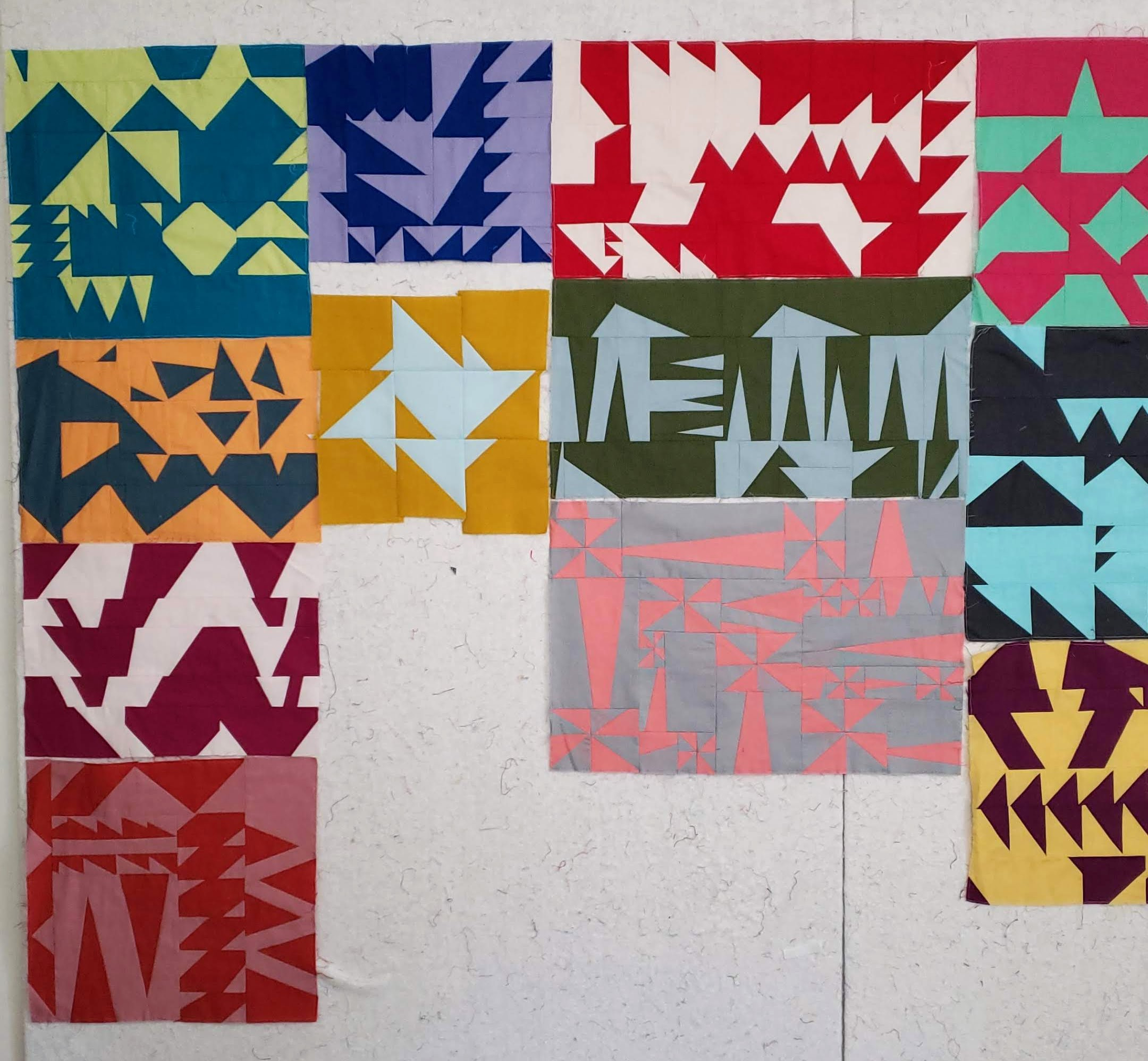 Triangle Play Improv Quilting