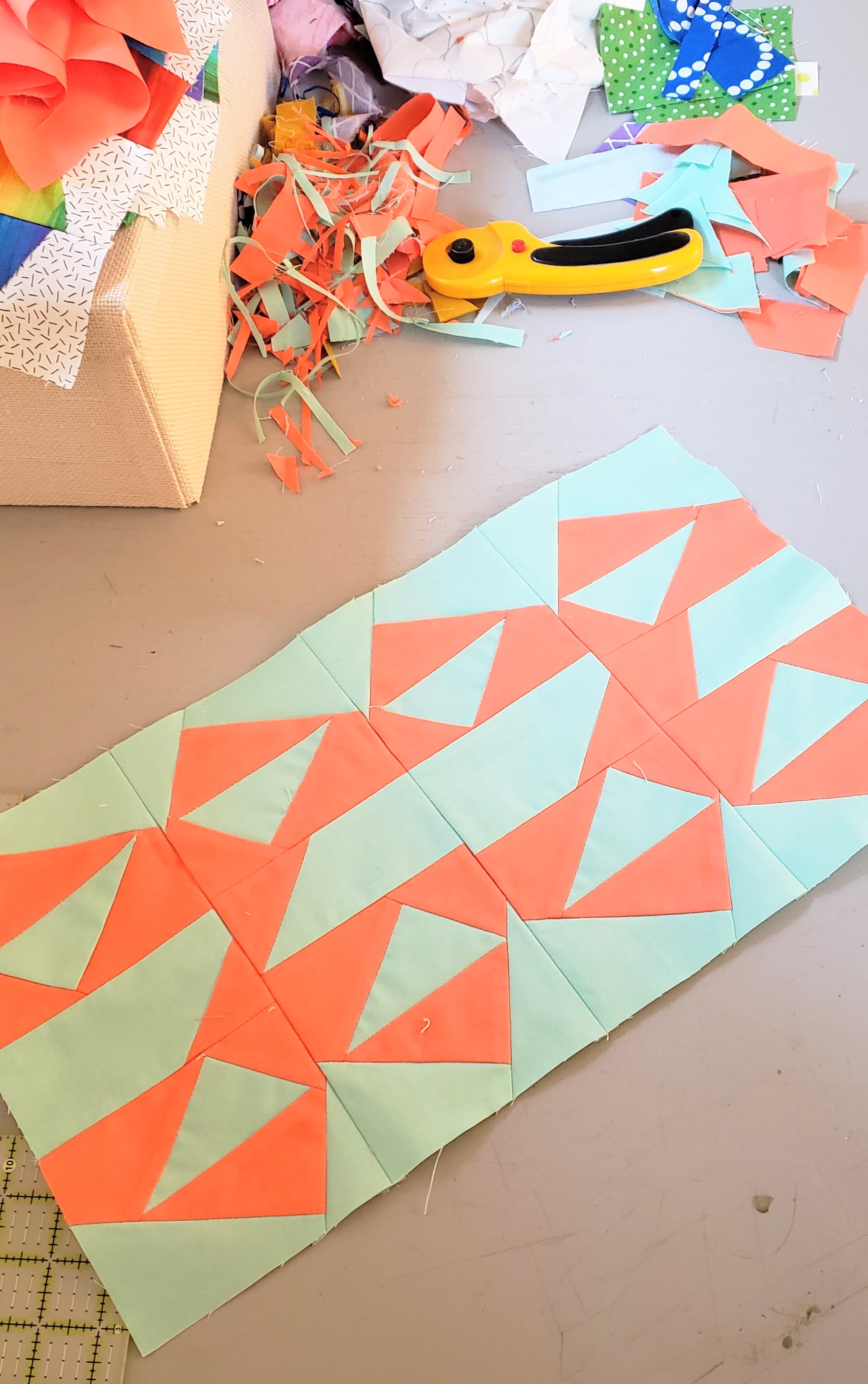 Improv Piecing Solid quilts
