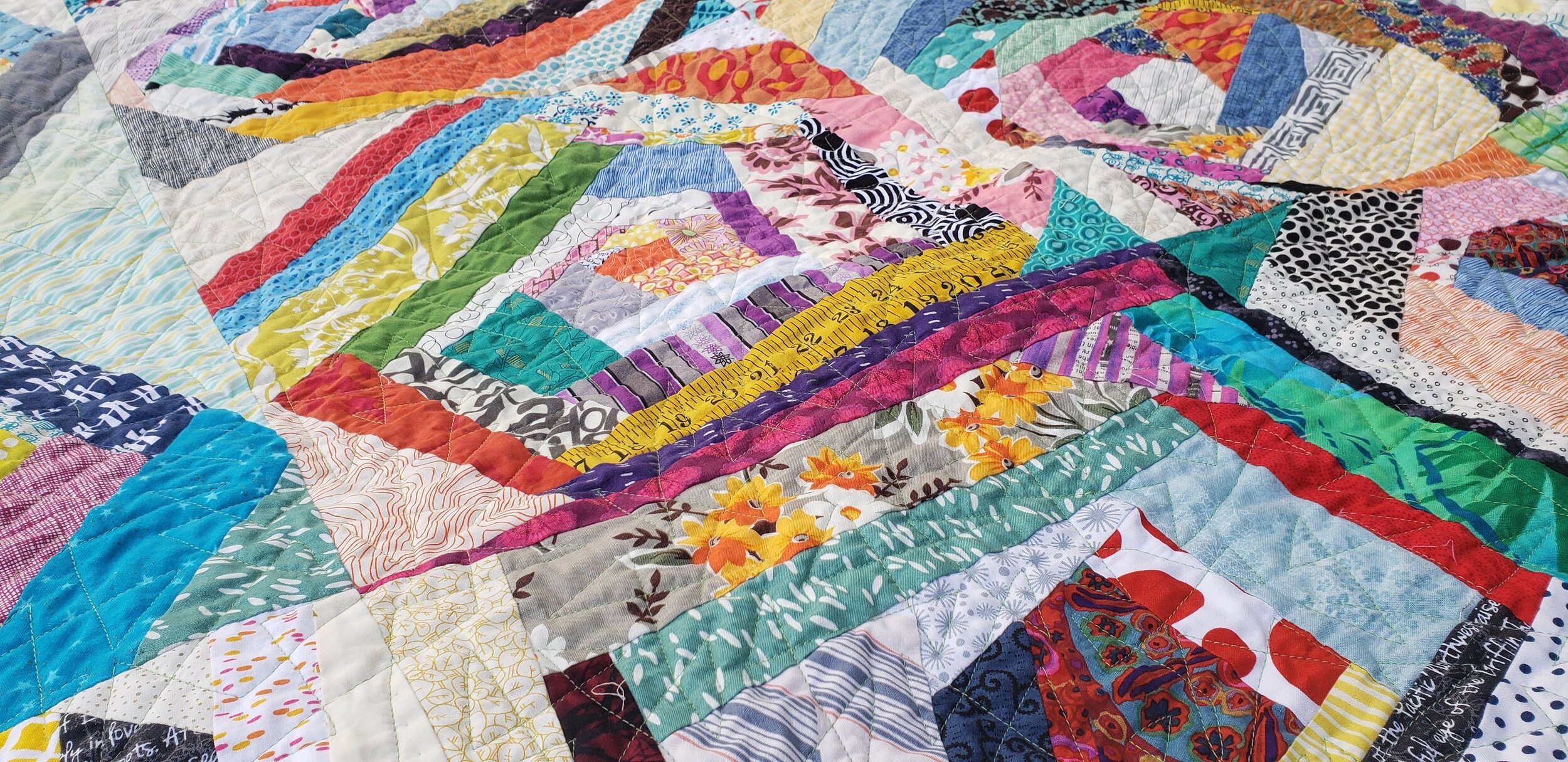 Improv Log Cabin Scrap Quilts