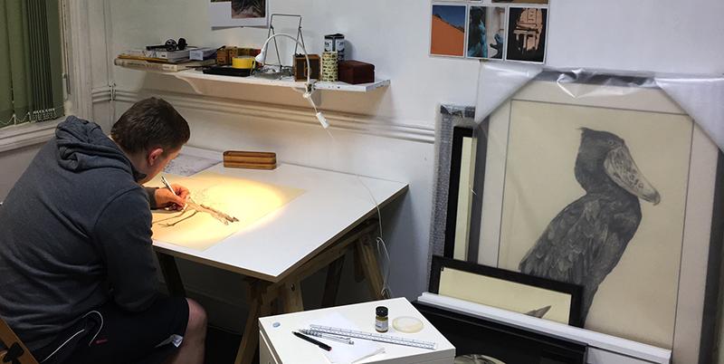 Chris Otley in his studio