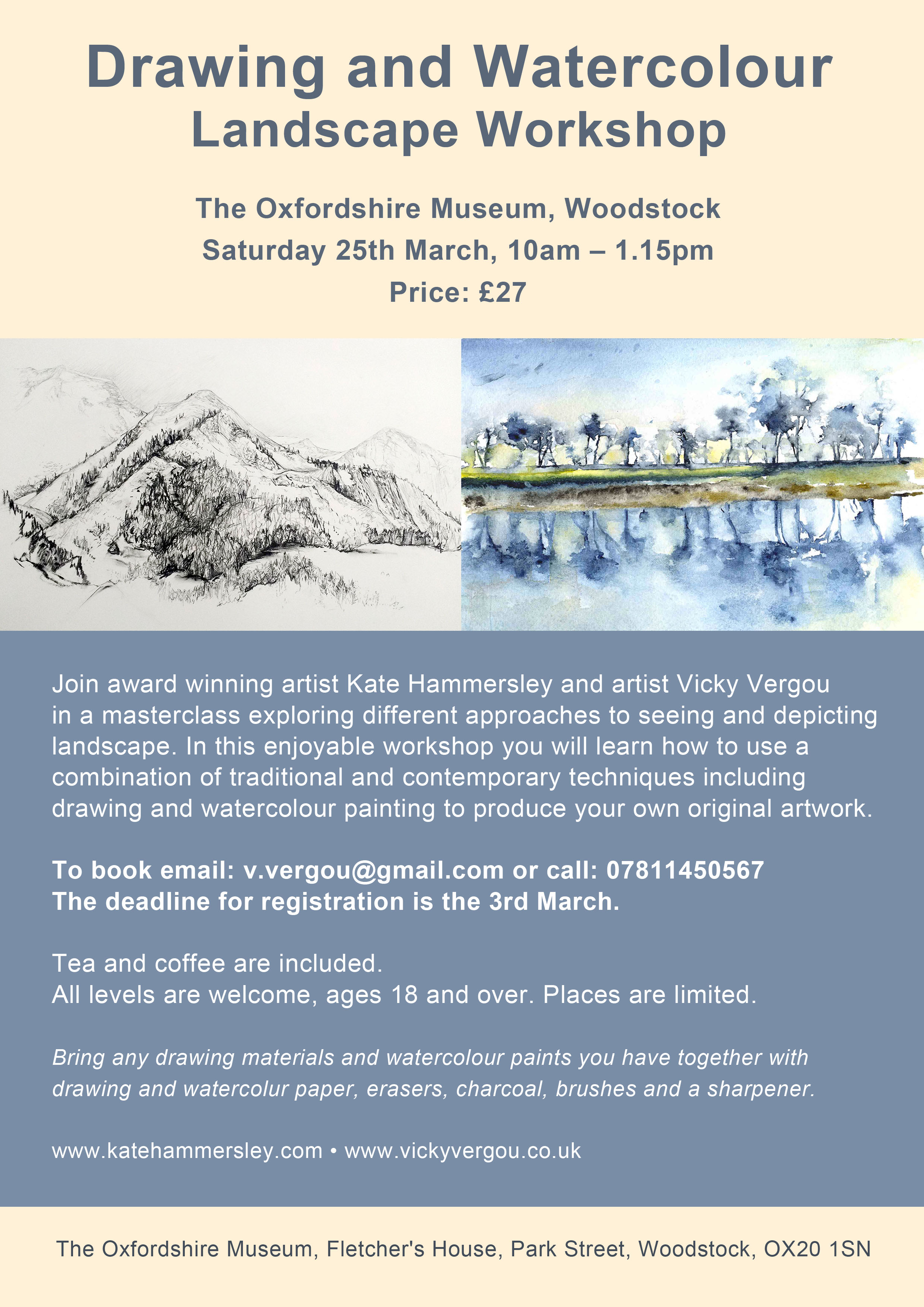 Drawing and Watercolour Landscape Workshop