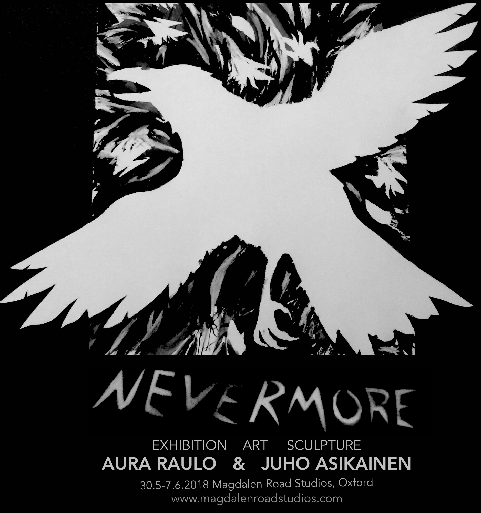 nevermore Exhibition at Magdalen Road Art studios