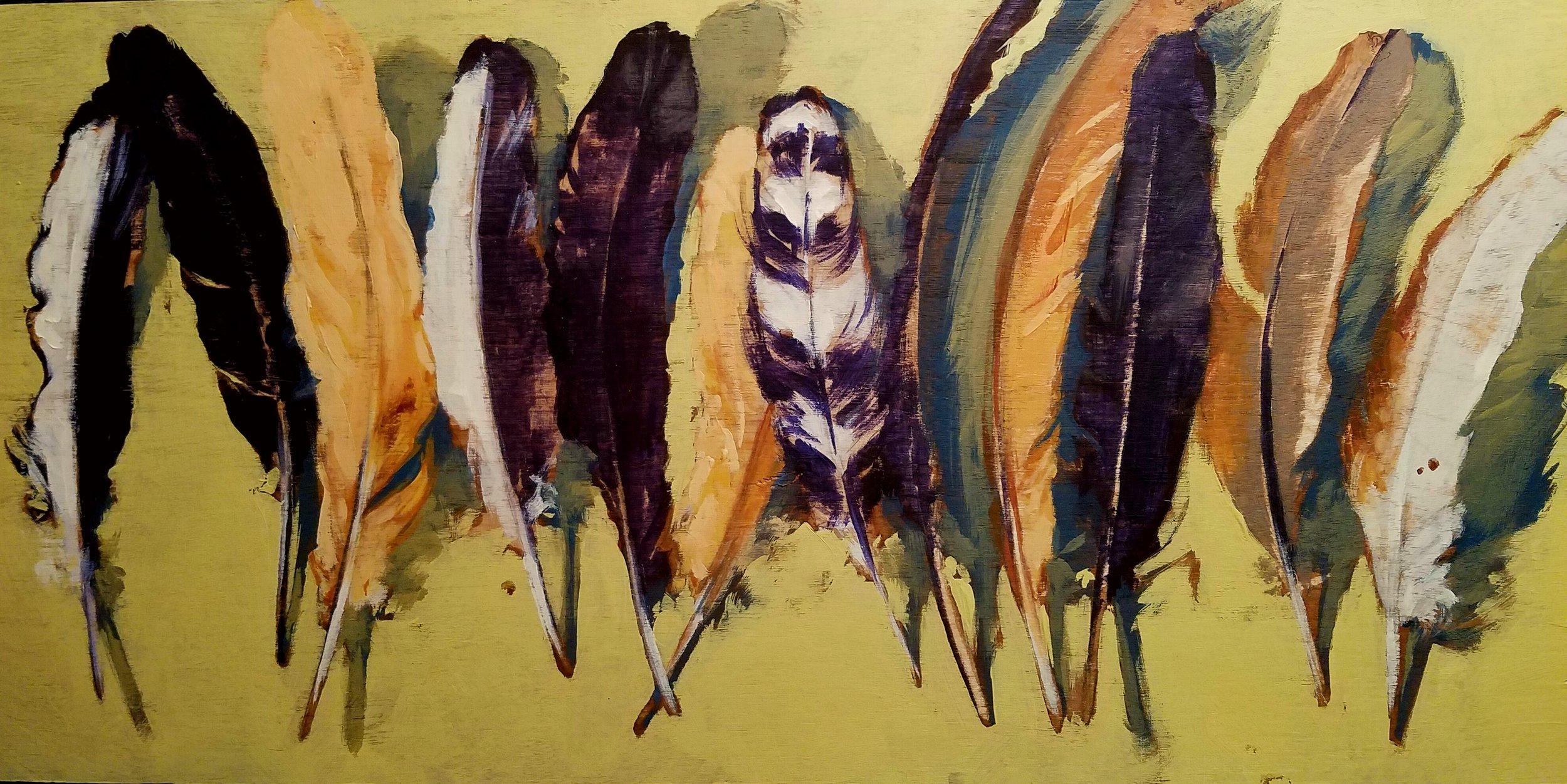"""Twelve Gone"", oil on wood, 8""x 16"", $475"