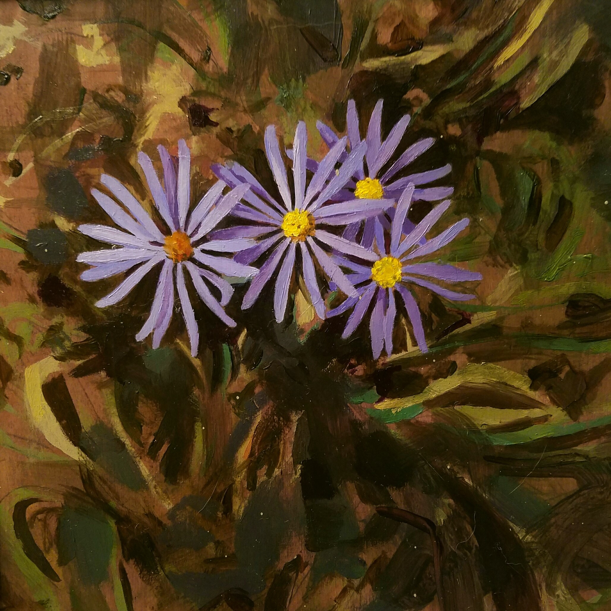 """""""Summer Cluster"""", oil on wood, 8""""x 8"""", $250"""