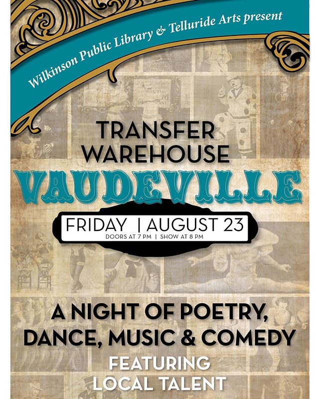 We have a spectacular weekend planned at the Warehouse! ⁣ ⁣ TOMORROW @telluridelibrary and @telluridearts presents Vaudeville, a wonderful showcase of local talent.⁣ ⁣ SATURDAY don't miss KIKI: Art & Sound, a pop-up art exhibition featuring Denver + Telluride artists AND dance party with DJ Pleasurewave.⁣ ⁣ Art Exhibit from 3-10pm⁣ Dance Party at 9pm⁣ Craft Cocktails by Diamond Dave⁣ ⁣ Both events are FREE! All are welcome 🙌🏼 ⁣ ⁣ #colorado #telluride