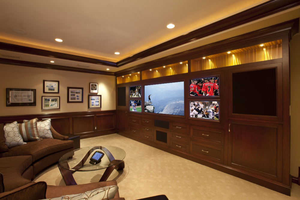 Home theater with lighting and integration
