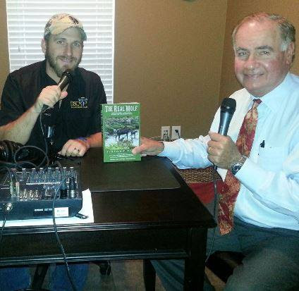 Ted Lyon with Cable Smith, the host of the Lone Star Outdoors Show.