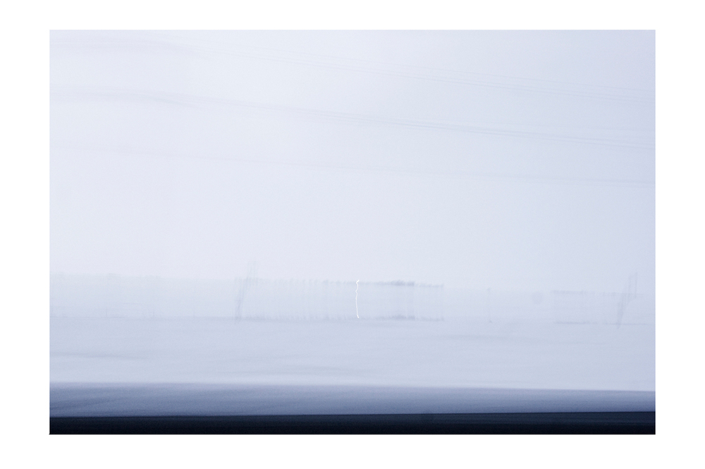 GABRIELA GARCIA-LUNA ,  Whitescape s-  Ladder , 2013. Pigment print on paper 26 1/4 in x 37 1/2""