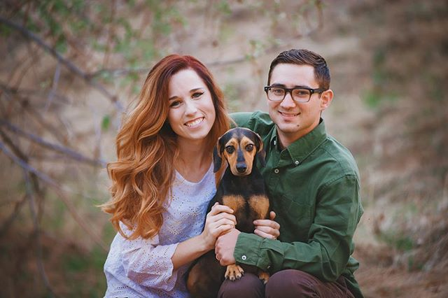 First holidays as a married couple...and baby. ❤️❤️🐶 #kimrobbinsphotographer #fallphotos 🍁🍂