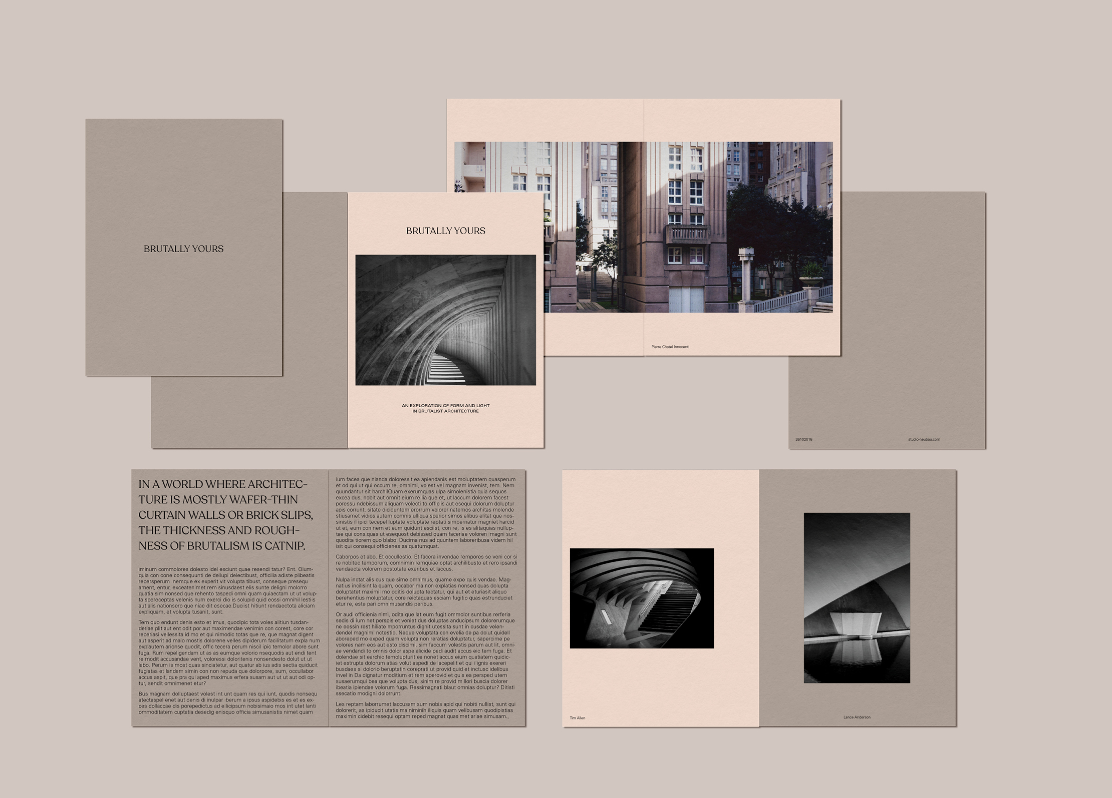 Concept design for book on brutalist architecture