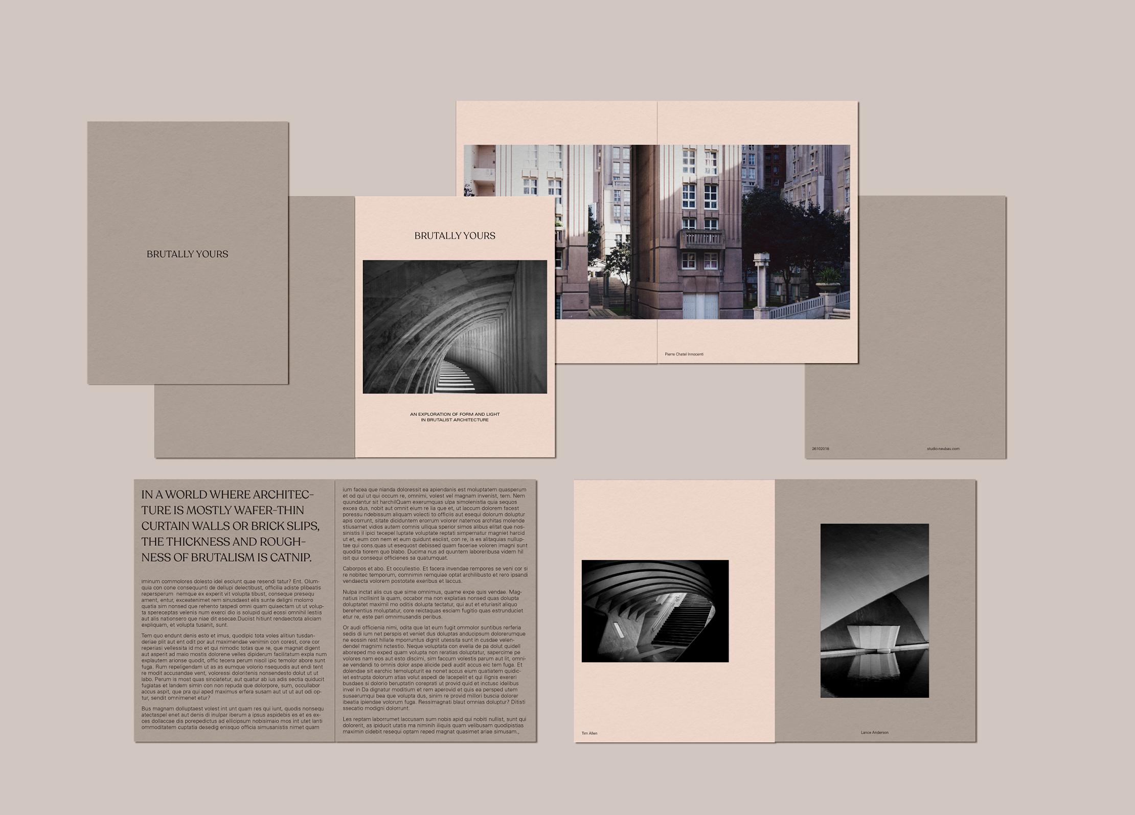 Concept design for book on brutalist architecture