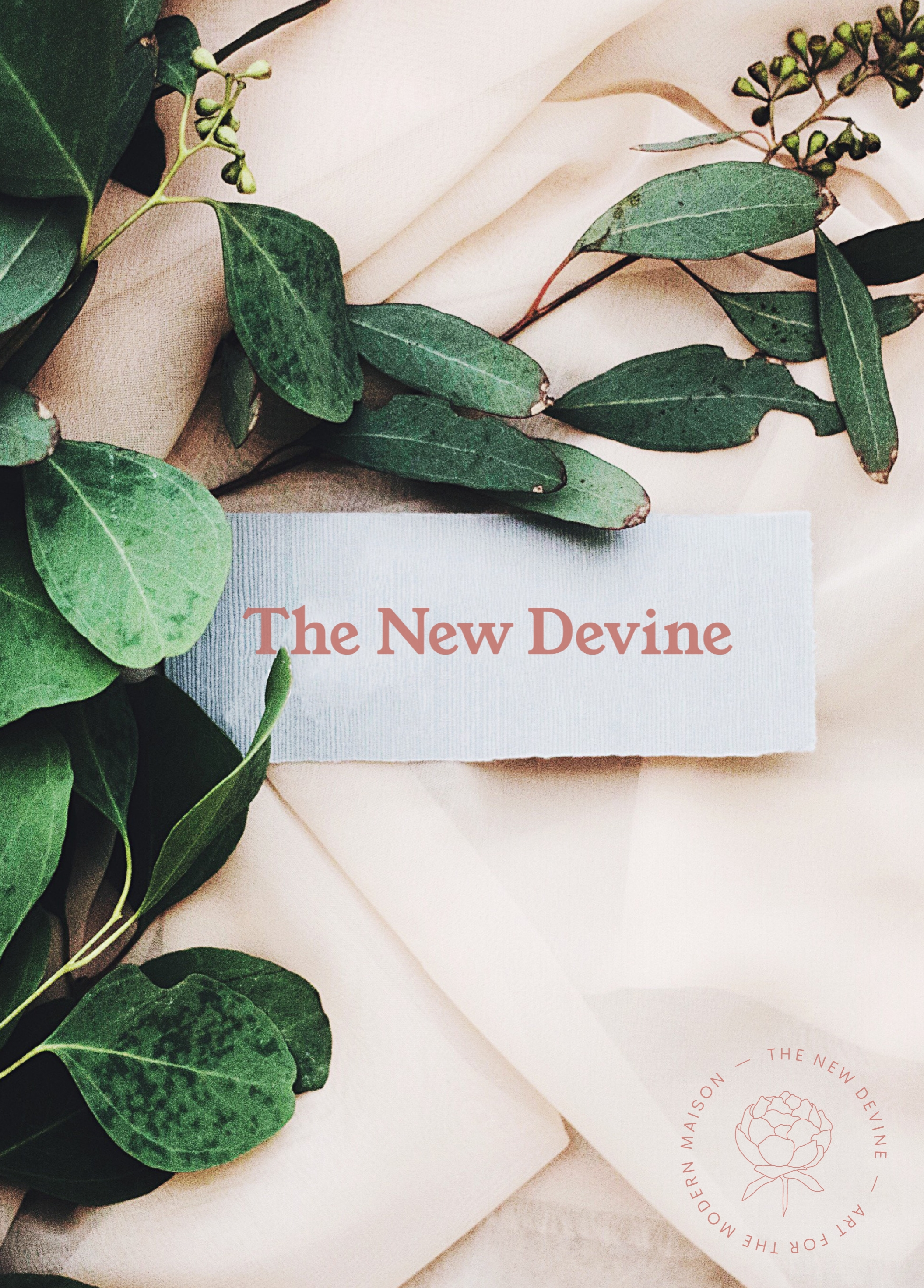 Logo suite and website and eCommerce site for  The New Devine