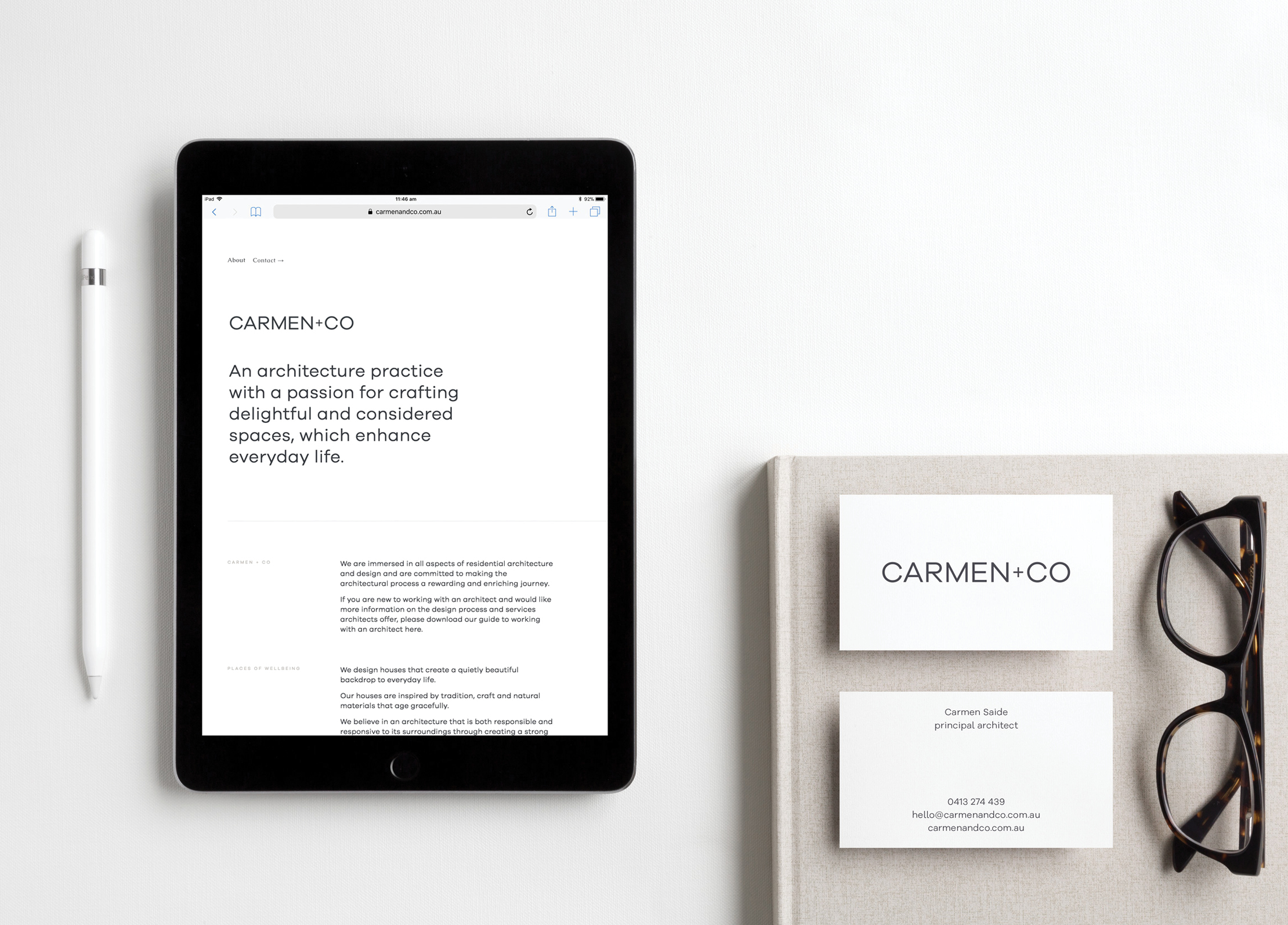 Logo suite, brand collateral & website design and build for  Carmen+Co