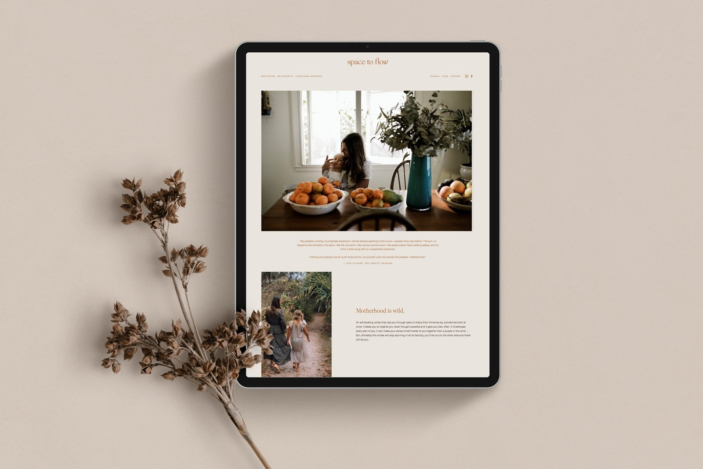 Web design for  Space to Flow