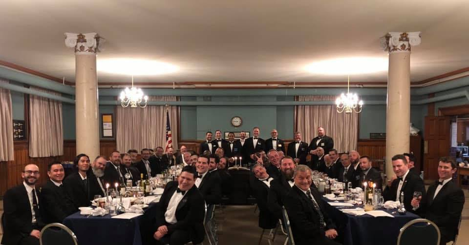"The evening of the, ""Day of Masonry,"" at the Masters Lodge Table Lodge."