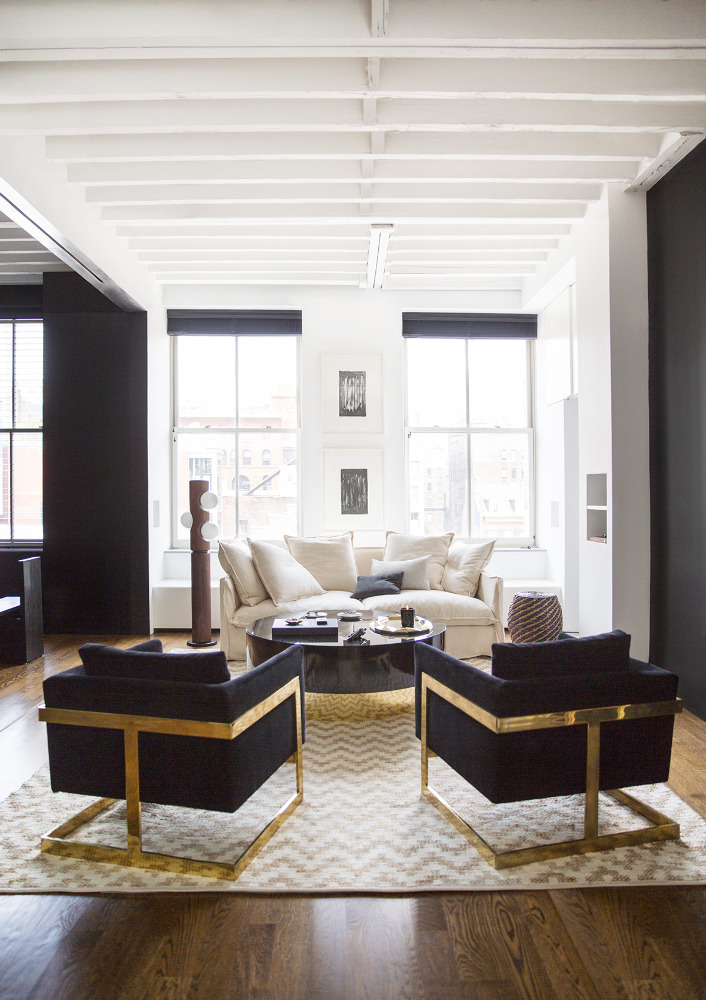 Rita Hazan's NYC apartment, designed by Nate Berkus and Jeremiah Brent via  Domino