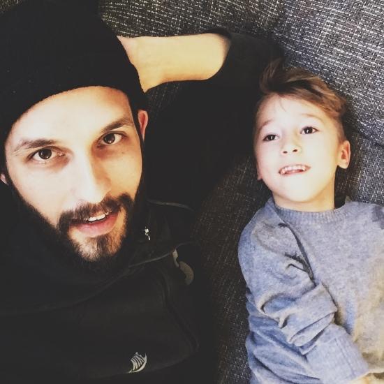 Joe and his6-year-old son, Maceo.