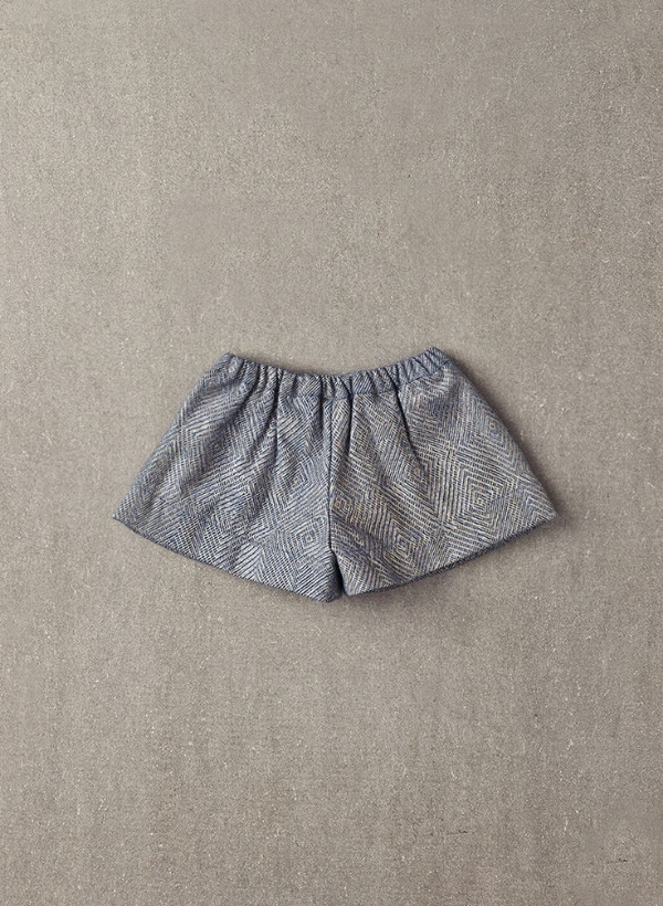 Jess Shorts in Light Grey Foil
