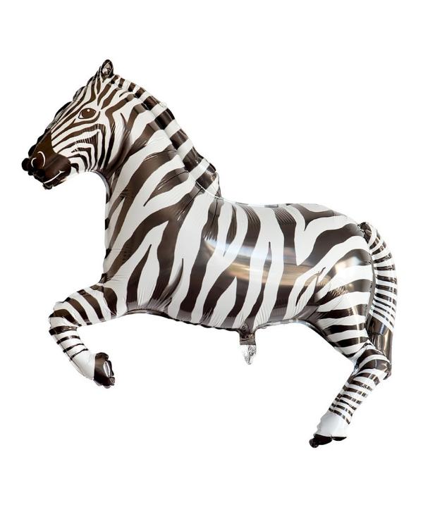 mylar zebra balloon via oh happy say shop!