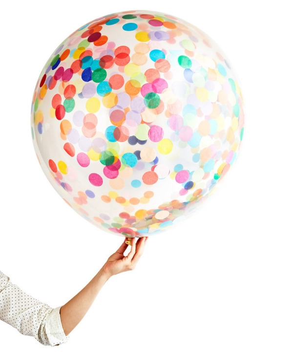 giant round confetti balloon via oh happy day shop!