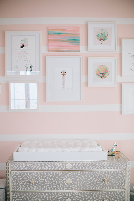 Modern, pink girl's nursery and newborn photos by Melissa Warner and Heather Kincaid via 100 Layer Cakelet