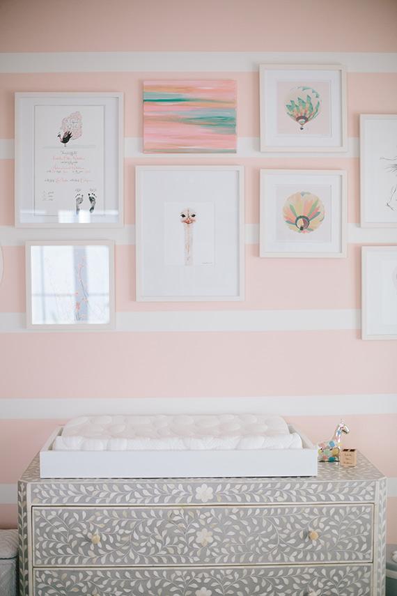 Modern, pink girl's nursery and newborn photos by Melissa Warner and Heather Kincaid via 100 Layer Cakelet