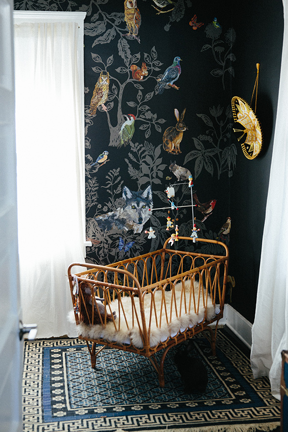 Modern bohemian boy's nursery by Jamie Street Photo via 100 layer cakelet