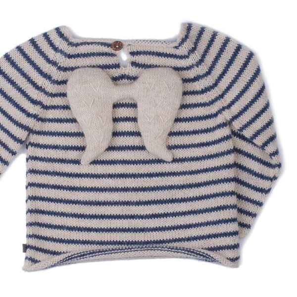 oeuf angel sweater – indigo stripes