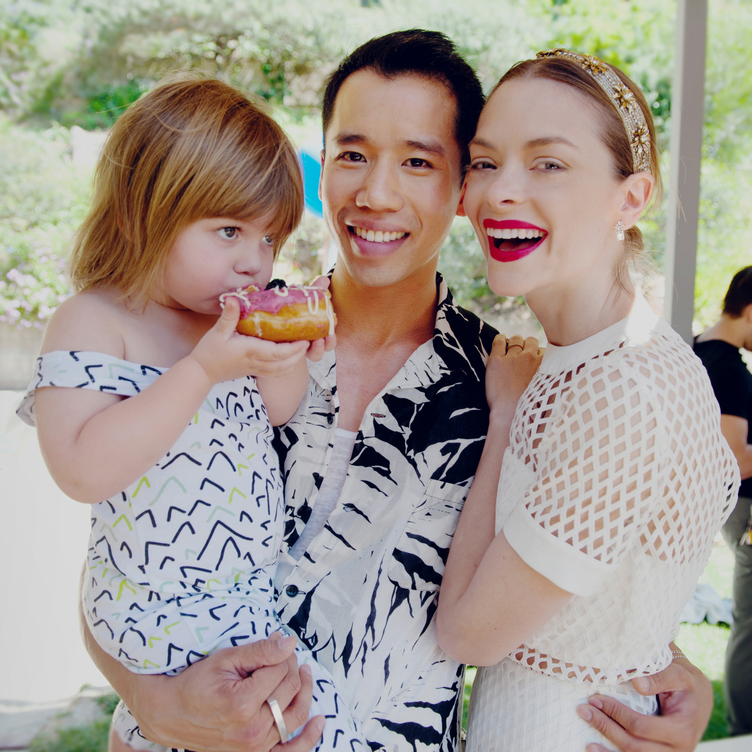 Jared Eng with actress, Jaime King and her son, James Knight.